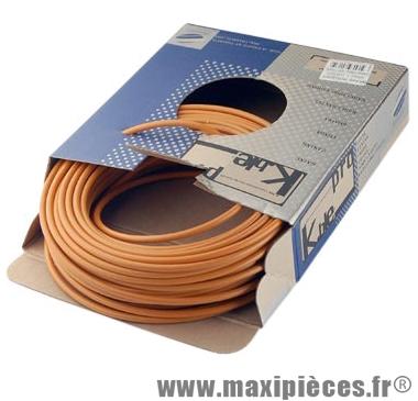 Gaine frein route/VTT orange 5mm auto-lubrifiee 25m (gaine tubée) marque KBLE - Pièce Vélo