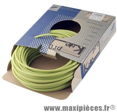 Gaine frein route/VTT vert 5mm auto-lubrifiee 25m (gaine tubée) marque KBLE - Pièce Vélo