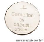Pile alcaline cr2430 3v - Accessoire Vélo Pas Cher