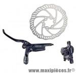 Frein disque avant hydro draco noir durite 800 mm avec disque 160mm - Accessoire Vélo Pas Cher