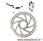 Frein disque avant hydro draco blanc durite 800 mm avec disque 160mm - Accessoire Vélo Pas Cher