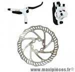 Frein disque arrière hydro draco blanc durite 1450 mm avec disque 160mm postmount - Accessoire Vélo Pas Cher
