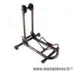 Présentoir 1 vélo pliable noir roue universel 26 pouces/700 automatique a ressort - Accessoire Vélo Pas Cher