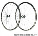 Roue route 700 (paire) omega noire bos+ moy. reflex noir k7 shimano 8/9/10/11v. - Accessoire Vélo Pas Cher