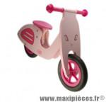 Vélo sans pédale en bois draisienne -style vespa- rose des 20 mois 4 ans - Accessoire Vélo Pas Cher - Draisienne pour enfant