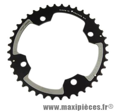 Plateau 40 dents VTT double diamètre 120 extérieur noir 4 branches cross marque Spécialités TA - Matériel pour Vélo