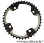 Plateau 42 dents VTT double diamètre 120 extérieur noir 4 branches cross marque Spécialités TA - Matériel pour Vélo