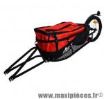 Remorque monoroue+ sac-fixation moyeu/roue 16 pouces/l155 l42 h28- charge max 37 kg marque Atoo - Matériel pour Vélo