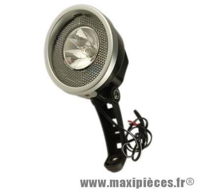 Projecteur halogène pour dynamo moyeu avec interrupteur on/off 10 lux (vrac) - Accessoire Vélo Pas Cher