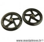 Roues de trottinette en 200 mm roulements abec 5 (paire) - Accessoire Vélo Pas Cher