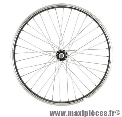 Roue vélo BMX 20 pouces avant axe 9.5 mm tout alu moyeu acier 36t - Accessoire Vélo Pas Cher