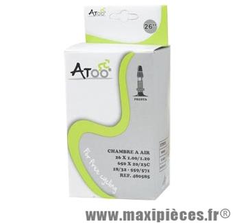 Chambre à air de VTT 26x1.00 vp marque Atoo - Matériel pour Vélo