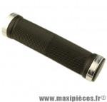 Poignée VTT lock on avec anneaux de couleur argent 125mm (paire) marque Progrip