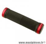 Poignée VTT lock on avec anneaux de couleur rouge 125mm (paire) marque Progrip