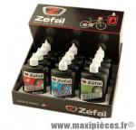 Huile 125 ml présentoir 12 burettes (4 pro lube/4 wet lube/4 dry lube) marque Zéfal - Matériel pour Cycle