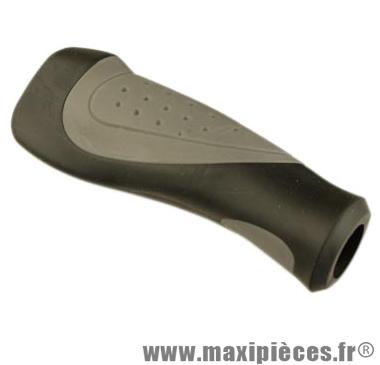 Poignée VTT confort gel noir/gris 130mm (paire) - Accessoire Vélo Pas Cher
