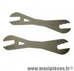 Clé a cône pour moyeu roue 13/14/15/16/17/18 mm (jeu de 2 cles) marque Var - Accessoire Vélo