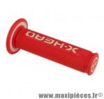 Poignée BMX rouge/blanc d22.2 mm l120 mm (paire) - Accessoire Vélo Pas Cher