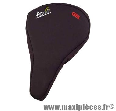 Couvre selle gel noir étroit marque Atoo - Matériel pour Vélo