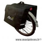 Sacoche vélo a pont 2 volumes noire (+/-40l) pour porte bagages marque Atoo - Matériel pour Vélo