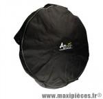 Housse de roue noire matelassée pour 1 roue marque Atoo - Matériel pour Vélo