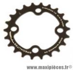 Plateau 22 dents VTT triple diamètre 64 intérieur noir 4 branches chinook 10v marque Spécialités TA - Matériel pour Vélo