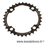 Plateau 32 dents VTT triple diamètre 104 interm noir 4 branches chinook 10v marque Spécialités TA - Matériel pour Vélo