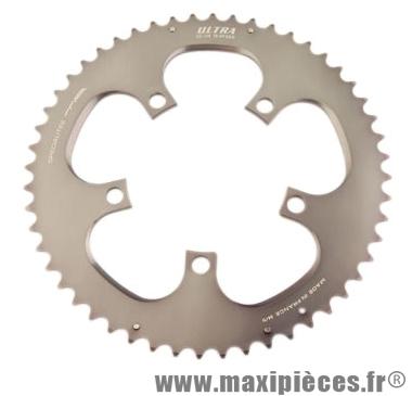 Plateau 52 dents route diamètre 110 extérieur gris bleuâtre ultra (comp.ultegra 6750) marque Spécialités TA - Matériel pour Vélo