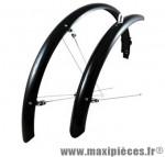 Garde boue VTT 26 pouces noir 4 tringles réglables (paire) marque No Contest - Accessoire Vélo