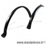Garde boue VTC 28 pouces noir 2 tringles fixes (paire) marque No Contest - Accessoire Vélo