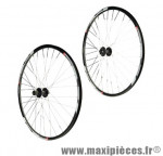 Roue VTT 29 pouces (paire) neo disc mx m475 disque hg 8/9/10v. noires rayons noirs 32t - Accessoire Vélo Pas Cher