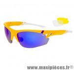 Lunette vélo e881 jaune/blanche verre lazer uv400 cat.3 + 2 jeux de verre marque Goggle - Equipement Cycle