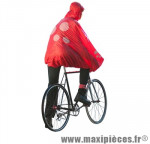 Poncho protection pluie spad fulap rouge t unique (visiere,leger,motifs réfléchissants..) - Accessoire Vélo Pas Cher