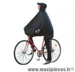 Poncho protection pluie spad fulap noir t unique (visiere,leger,motifs réfléchissants...) - Accessoire Vélo Pas Cher