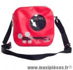 Sacoche cintre spad besenvil rouge (se fixe sans outil, zippe étanche, 2 poches internes) - Accessoire Vélo Pas Cher