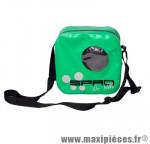 Sacoche cintre spad besenvil vert (se fixe sans outil, zippe étanche, 2 poches internes) - Accessoire Vélo Pas Cher