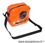 Sacoche cintre spad besenvil orange (se fixe sans outil, zippe étanche, 2 poches internes) - Accessoire Vélo Pas Cher
