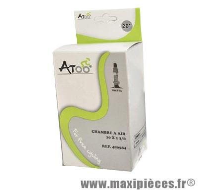 Chambre à air de BMX 20 x 1 3/8 vp marque Atoo - Matériel pour Vélo