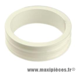 Entretoise ahead-set 1 pouce 1/8 10mm alu blanc 28.6 mm ext. - Accessoire Vélo Pas Cher
