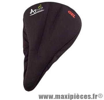 Couvre selle gel noir étroit avec groove marque Atoo - Matériel pour Vélo
