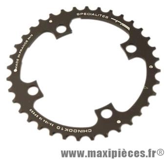 Plateau 36 dents VTT triple diamètre 104 interm noir 4 branches chinook 10v marque Spécialités TA - Matériel pour Vélo