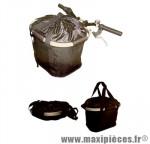 Panier vélo pliable détachable clips sur guidon noir