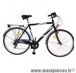 Vélo ville city c480 homme people noir t52 acier tx35 6v rigid marque Carratt - Vélo de Ville complet