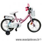 Vélo pour enfant 16 fillette c671 joy16 rose/bleu azur marque Carratt - Vélo pour enfant complet