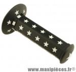 Poignée BMX noir/blanche star d22.2 125 mm (paire) - Accessoire Vélo Pas Cher