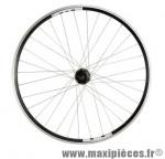 Roue VTC 28 pouces arrière blocage k7 7/8/9/10v. disc/v brake jante noire mx / moy. shim. m475 double - Accessoire Vélo Pas Cher