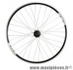 Roue VTC 28 pouces avant blocage disc/v brake jante noire mx / moy shim. m475 double paroi - Accessoire Vélo Pas Cher