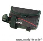 Sacoche de cadre z light front pack noire fixation velcro sur tube horizontal marque Zéfal - Matériel pour Cycle