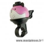 Sonnette enfant ping deco hamster rose - Accessoire Vélo Pas Cher