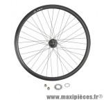 Roue vélo fixie 700 noir arrière axe plein moyeu noir flip/flop 36 t. (avec pignon) - Accessoire Vélo Pas Cher